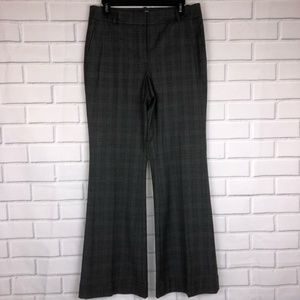 LOFT l Gray Plaid Trouser Pants Career style sz 6